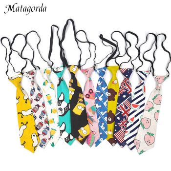 Matagorda 28*7CM Tie Kid Children Neck Cartoon Cotton Linen Gift Student Cravat Lazy Gravata Neckwear Facility Necktie