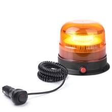 MICTUNING 3016B 4,5 Zoll Gelb Bernstein Vorsicht Leuchtfeuer Warnung Notfall Licht Mit Magnetische Basis 10 30V 3 modi Strobe Beleuchtung