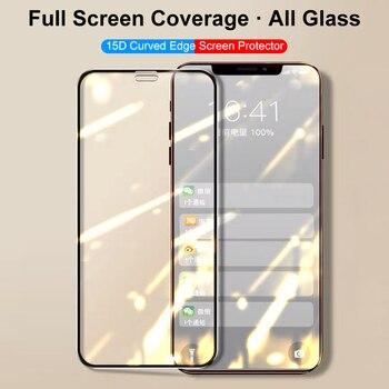 15D Pellicola protettiva / Vetro Temperato per Iphone 11 Pro Max - Iphone Xs Max X Xr Film X S R 1