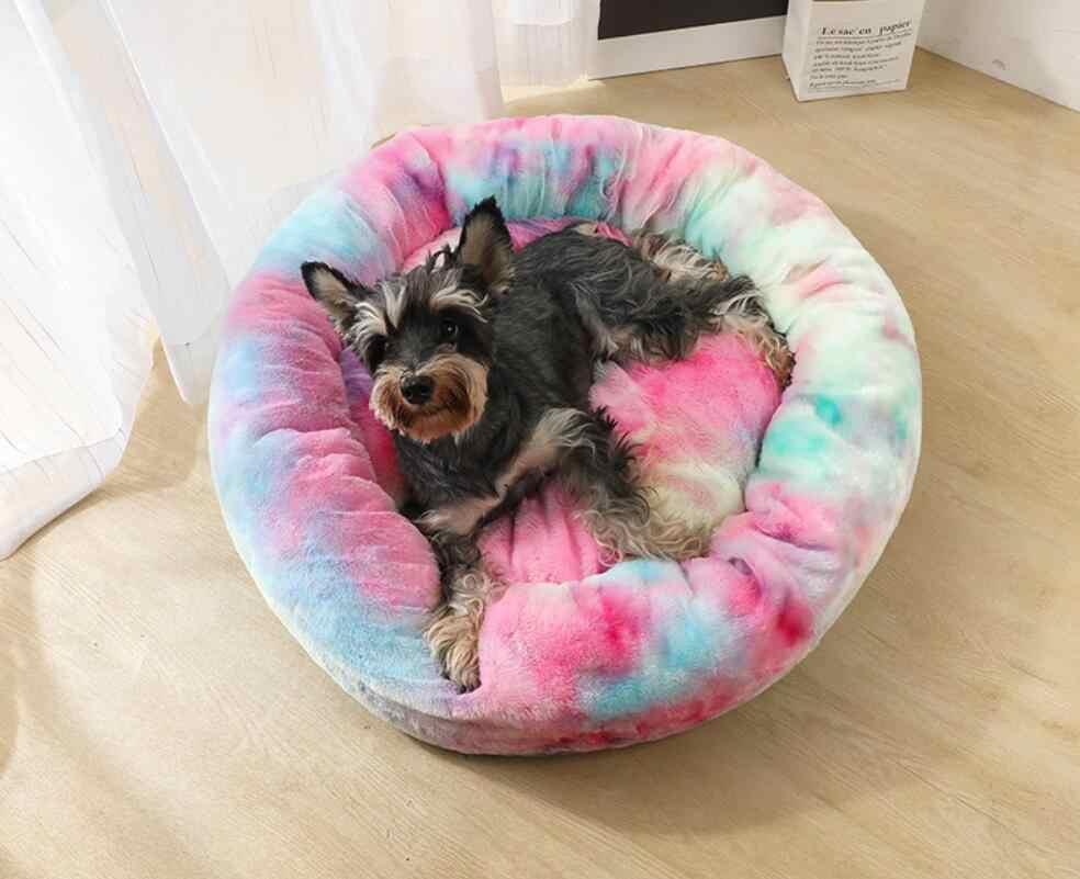 Hond Bed Lange Pluche Super Zacht Huisdier Bed Kennel Ronde Hond Huiskat Bed Voor Honden Bed Chihuahua Big grote Mat Bench Dierbenodigdheden