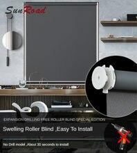 28mm/38mm tubo de alumínio cortinas de rolo nenhum tipo de broca rápido instalar alta qualidade estável à prova dwaterproof água adequado escritório cozinha
