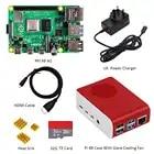 Originale Raspberry Pi4 Modello B Kit 4GB di RAM + custodia di trasporto con il ventilatore + EU/US/UK Tipo C 5 V/3A caricatore di Potere + cavo HDMI + 32G carta di TF + dissipatore di calore - 4