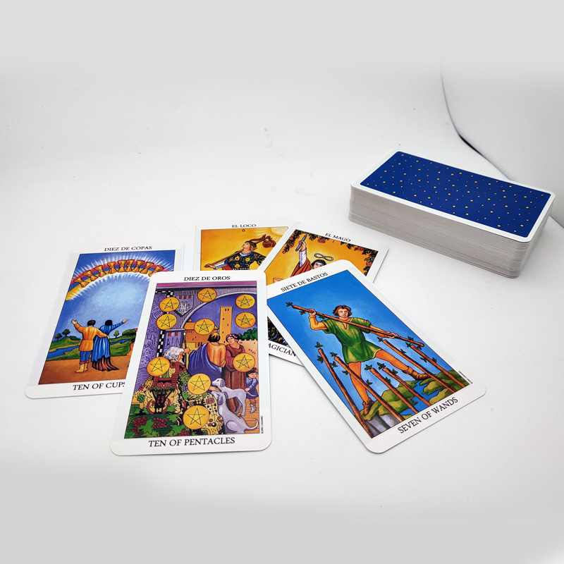 Future Games Tarot-Cards-Divination Playing-Mj Spanish-Version 78-Cards/Box Telling Family-Friends
