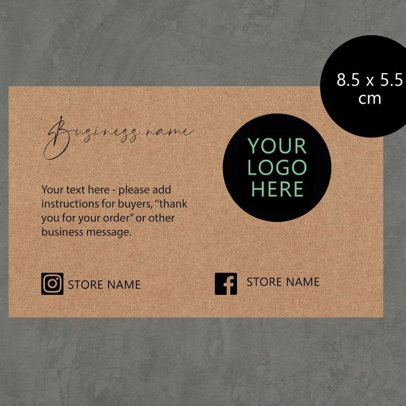 cartão de pedido multipack pequeno cartão de nota de negócios