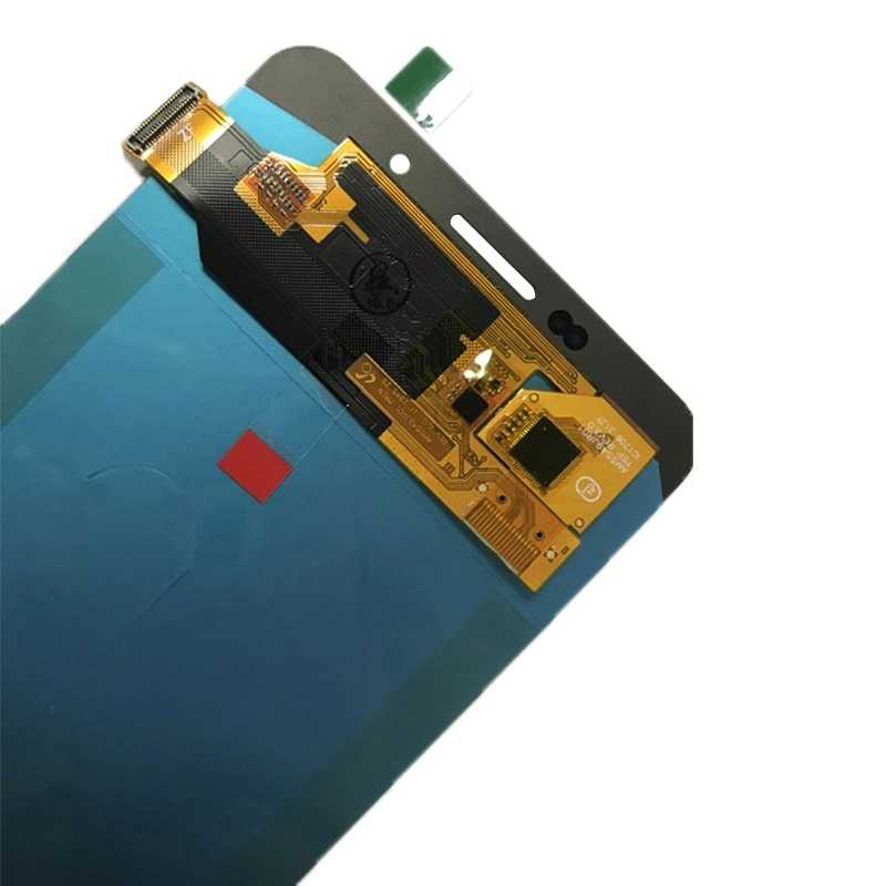 AMOLED شاشات LCD لسامسونج غالاكسي A7 2016 LCD A710 LCD A710F LCD A710M شاشة الكريستال السائل مجموعة المحولات الرقمية لشاشة تعمل بلمس
