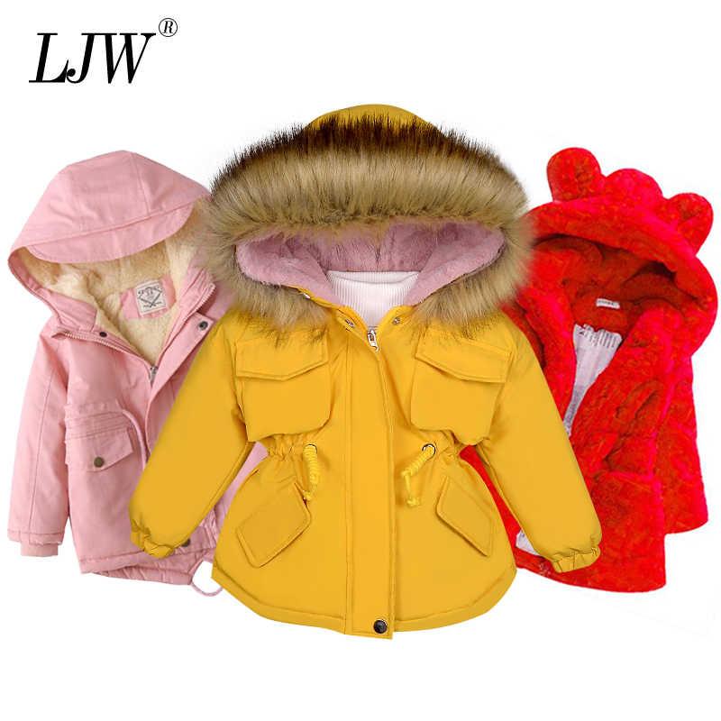 LZH Baby Boy Girls Winter Coat Hooded Thick Tie Dye Warm Windproof Down Jacket Alternative Coats Outerwear