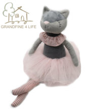 Luxe Mogo Handgemaakte Kitty Kat Pluchen Speelgoed Ballerina Kat Pop Prinses Kat Pop Voor Kids Fashion Prinses Ballet Kat Meisje pop(China)