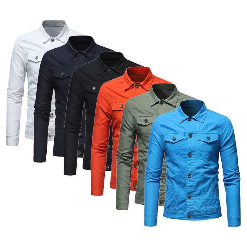 2019 осенне-зимняя модная мужская ретро свободная джинсовая куртка с капюшоном мужская Черная Повседневная вымытая джинсовая куртка ковбойская верхняя одежда мужская