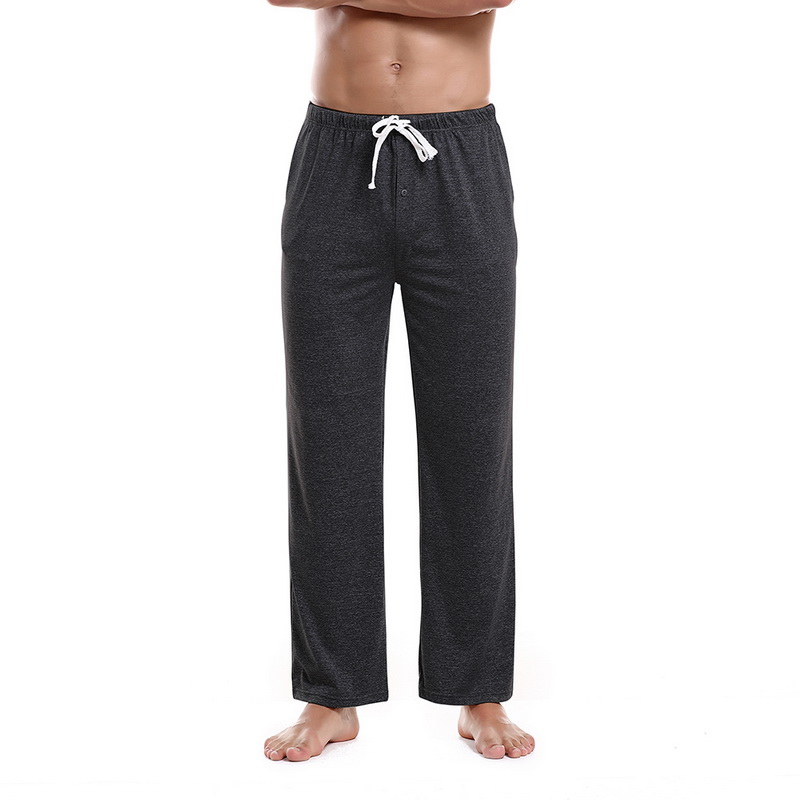 Trousers Pants Pajama Comfortable Cotton Casual Home Long Male Adisputent Light Loose title=