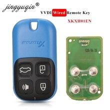 Jingyuqin XKXH01EN Xhorse VVDI 범용 유선 원격 자동차 키 4 버튼 VVD2/VVDI 키 도구 영어 버전