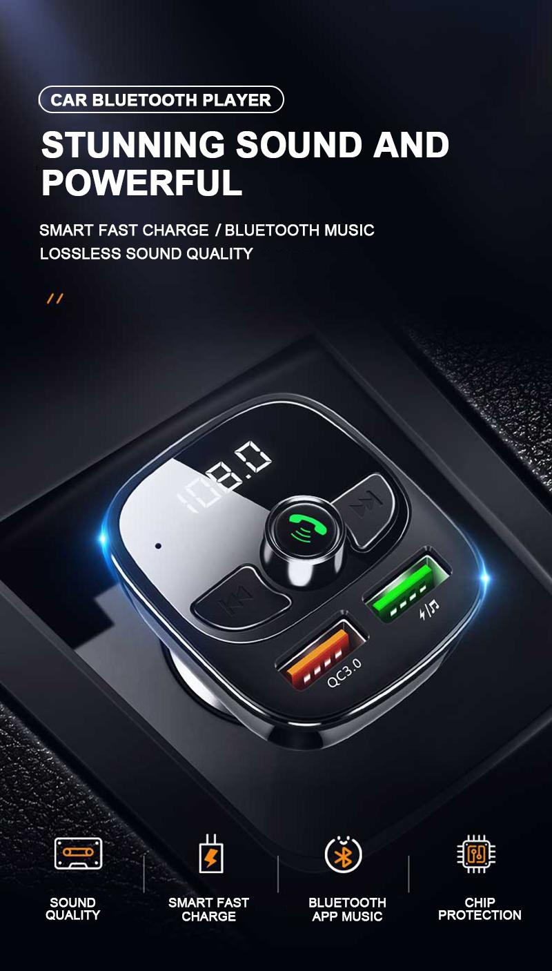 Автомобильное зарядное устройство fm передатчик модулятор Автомобильный