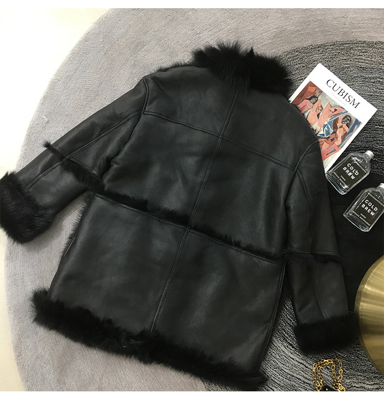 Double-Faced Fur Coat Women Winter Wool Coats Real Merino Fur Coats Warm Thickening Motocycle Outwear 2020 MF313