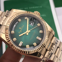 Luxury Brand New Men Daydate Yellow Gold Silver Gradient Green Automatic Mechanical Stainless Steel Sapphire Diamonds Watch AAA+