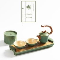 Jin Mu Shui Huo Tu Five Tea Set Japanese A Pot of Two Cups Portable Travel Tea Kung Fu Tea Set Tcup Chinese Tea Set Teaware