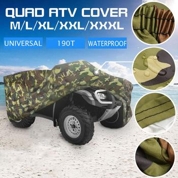 Waterproof Biker Cover 190T Camouflage Waterproof Motorcycle Cover Quad ATV Vehicle Scooter Motorbike Cover Bicycle Case Tent