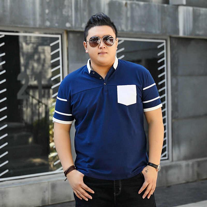9xl 10xl 8xl 플러스 사이즈 남성 폴로 솔리드 반소매 루즈핏 남성 embroided shirt 남성 폴로 셔츠 casual camisa