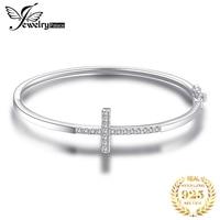 JewelryPalace Crown Cross Love bracelet CZ 925 Sterling Silver Bangles Bracelets For Women Silver 925 Jewelry Making Organizer