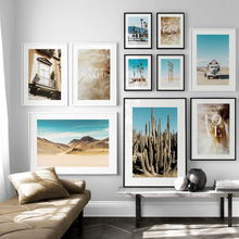 Mountain Sea Dandelion Cactus Desert Tree Wall Art Canvas Painting Nordic Posters And Prints Pictures For Living Room Decor