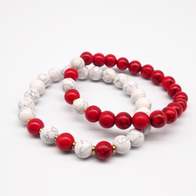 Itaqiu New Red White Crack Hand Made Beads Bracelet Amulet For Lover Couple Woman Man Gift Bohemia Boho Jewelry With Bag
