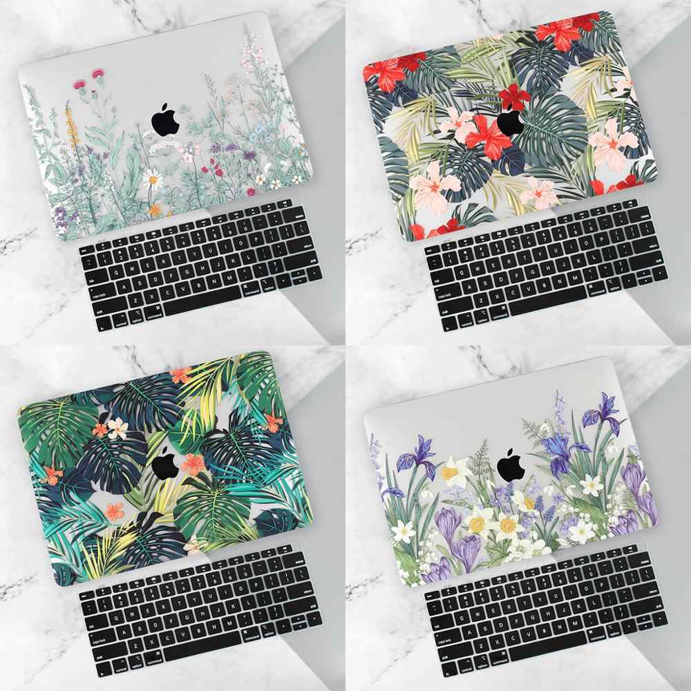 "Laptop Case untuk MacBook Air 11 Pro 13 15 Retina A1502 MAC BOOK 12 13 15 ""2019 Touch bar A1708 A2159 A1989 Cangkang Keras Cover"