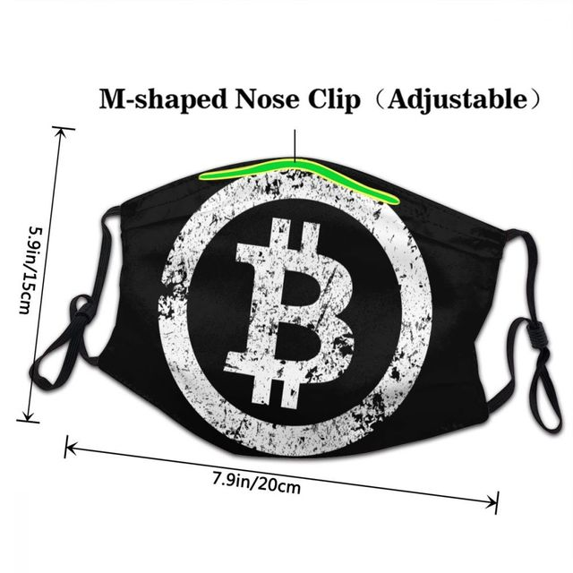 Bitcoin Reusable Adult Mouth Face Mask Crypto Currency  3