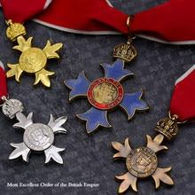 Qualidade superior 1pc reino unido emblemas cruz militar da rainha real obe/mbe/cbe ordem de excelência cavaleiros do império britânico