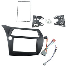 Para Honda Civic doble Din Fascia Radio Dvd estéreo Cd Panel de montaje Kit de ajuste marco frontal bisel con cable Harne(China)