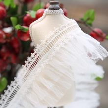 10cm*1meter Ruffle lace trimmings for clothing wedding dresses DIY sewing accessories trim for tailor