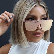Солнцезащитные очки унисекс безободковые квадратные солнечные