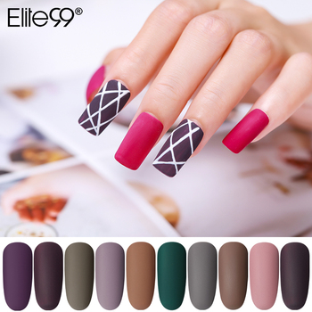 Elite99 Matte Farbe UV Gel Nagellack 10ml Reine Soak Off Nail art UV Gel Lack Top Basis Mantel lack Primer Gel Lack