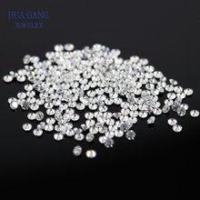 Насыпной Муассанит, бусины 1 мм ~ 3 мм DF, цвет круглый бриллиантовый вырез, свободные драгоценные камни, всего 1 карат, камень, материал для юве...