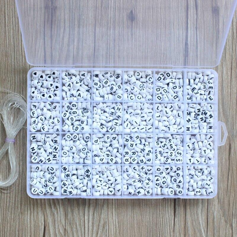 1620pcs Acrylic Letter Beads Set for jewelry making diy accessories Bracelet Necklace Mix Plastic Alphabet Beads boxs wholesale(China)
