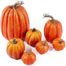 7pcs Mini Artificial Pumpkin Simulation Fake Vegetable Happy Halloween Decoration For Home Halloween Props Party Decoration