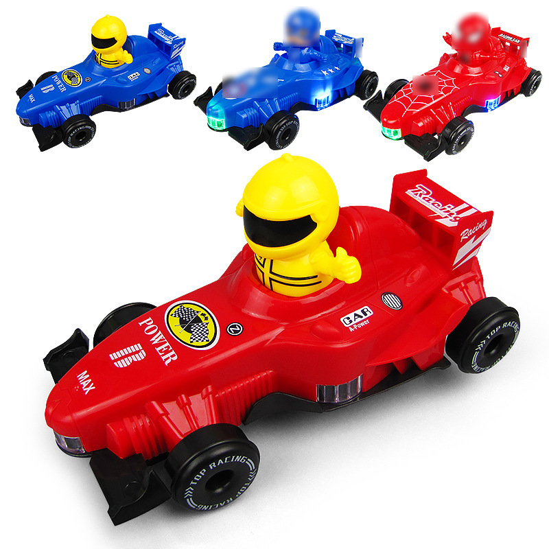 Children Electric Light Music Spider-Man Equation Race Car Captain Toy Multidirectional Electric Children'S Educational Toy
