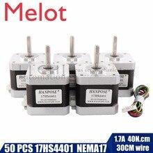 цена на 50pcs 4-lead Nema17 Stepper Motor 42 motor Nema 17 motor 42BYGH 1.7A (17HS4401) motor for CNC XYZ and 3D printer(2)