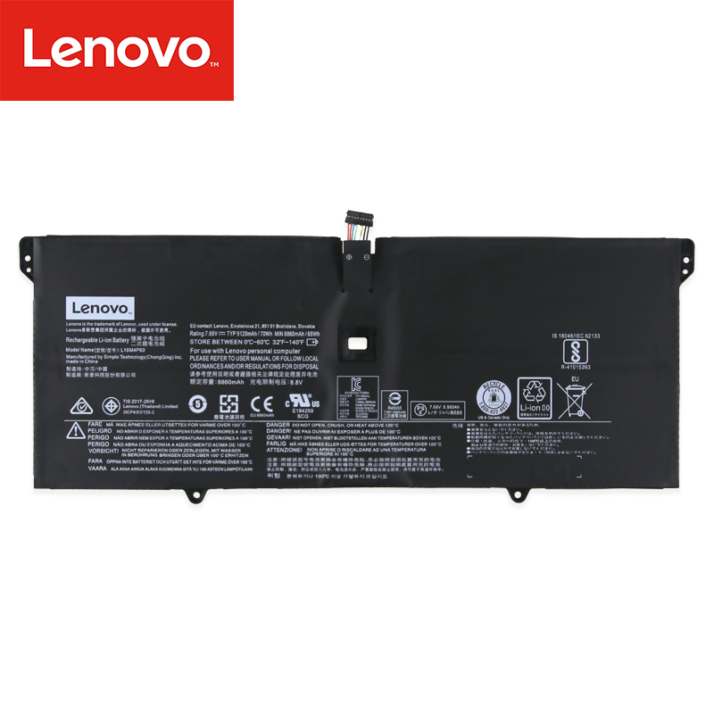 Original Laptop battery For Lenovo YOGA 920 YOGA 6 Pro-13IKB Yoga 920-13IKB L16C4P61 L16M4P60 7.68V 70Wh 9120mAh image