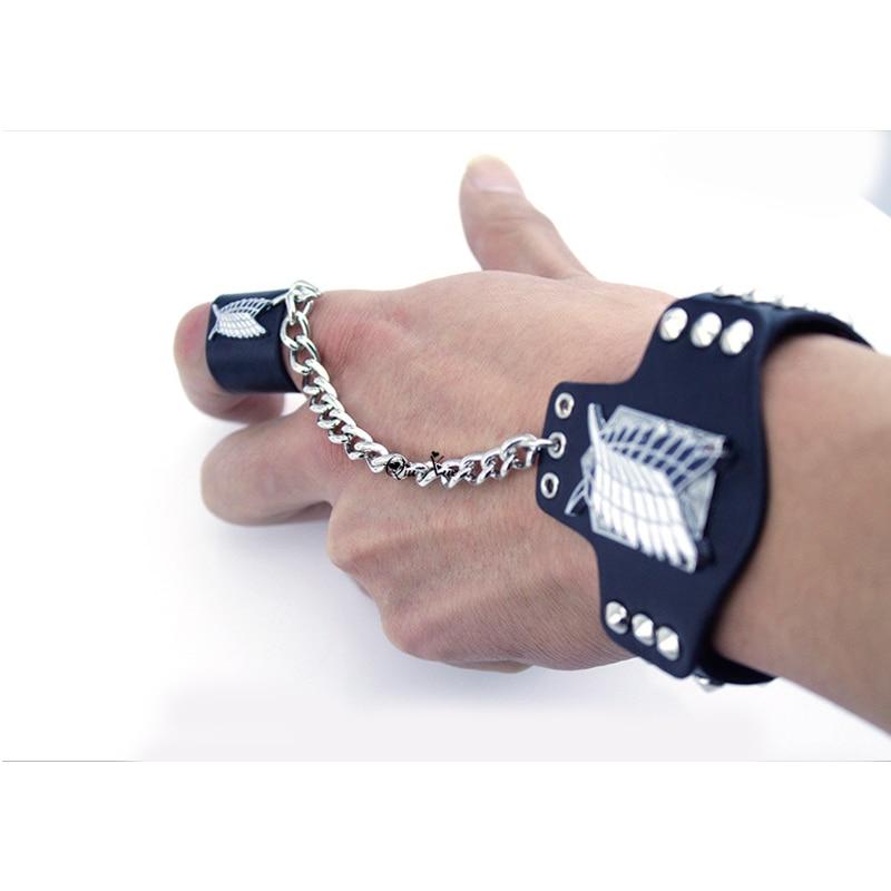 New Attack on Titan Bracelet  Wristbands Shingeki No Kyojin Cosplay Accessory
