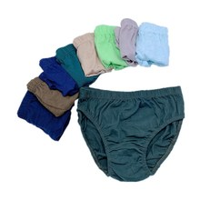 12Pc/Lot Solid Color Soft Boys Panties Children's Underwear Briefs  Suit For1-10Years