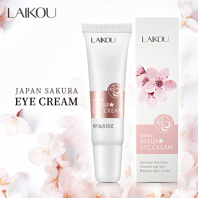 LAIKOU Sakura Eye Cream Anti-Aging Wrinkles Hydrate Dry Skin Serum  Remover Dark Circles Eye Care Against Puffiness And Bags