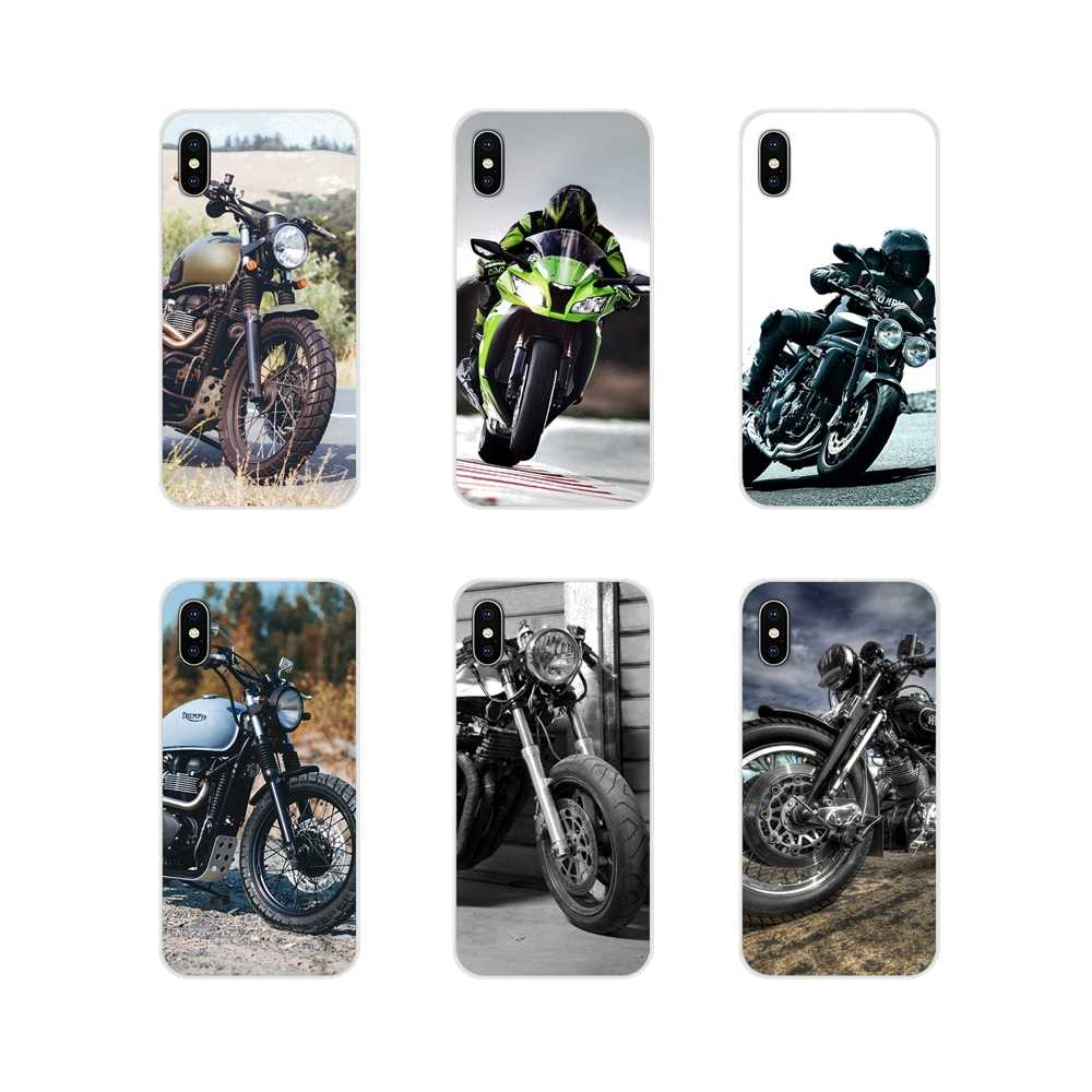 Moteur de course de moto rétro, coque de téléphone pour Samsung ...