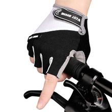 1Pair Breathable Half Finger Cycling Gloves Anti Slip Pad Motorcycle MTB Road Bike Gloves Men Women Sports Bicycle Gloves rockbros cycling bike bicycle gloves half finger gel anti shock breathable elastic bicycle gloves mtb motorcycle sports gloves