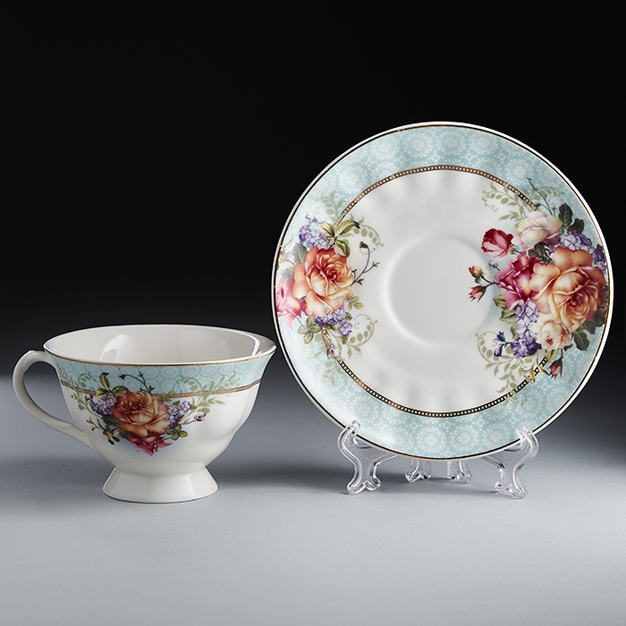 купить Set tea Rosario Burgundy Ф2-026Р/6 TO the 6 персон, 12 pieces по цене 1650 рублей