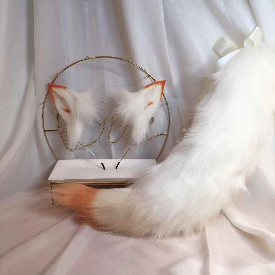 New Arctic Fox Anime Beast Ear Beast Tail Wolf Ear Cat Ear Fox Ear Headband Custom COSPLAY Boys Costume Accessories AliExpress