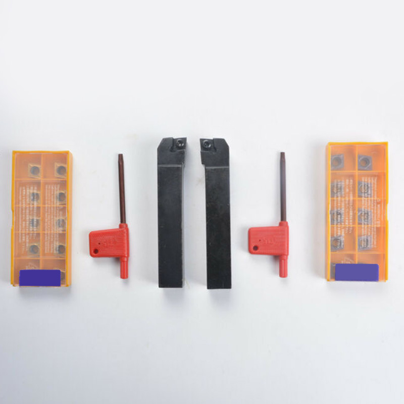 1pcs SCLCL1616H09+1pcs SCLCR1616H09 Lathe Turning Tool Holder+10pcs CCMT09T304 VP15TF+10pcs CCMT09T308 UE6020 Lathe Turning Tool Tool Parts    - title=
