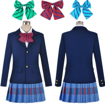 Anime Lovelive Love Live Cosplay Costume Kousaka Honoka Minami Kotori Ayase Eli Tojo Nozomi Nishikino Maki Japan School Uniform love live lovelive sunshine anime watanabe you ruby yoshiko riko kanan aqours japanese rubber keychain