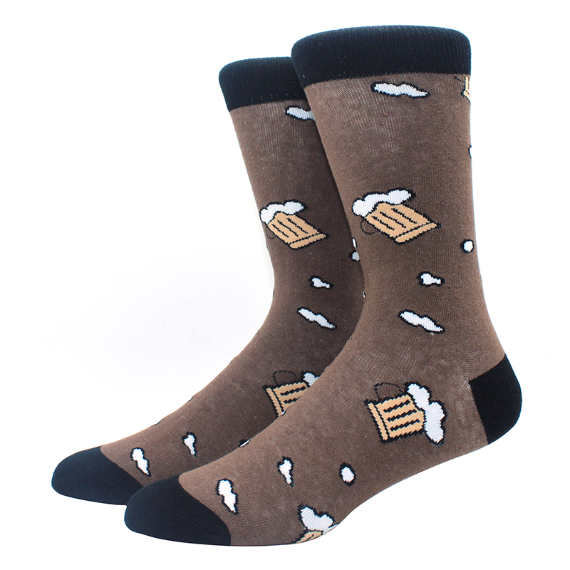 High-Quality-Combed-Cotton-Socks-Animal-Pattern-Long-Tube-Funny-Happy-Men-Socks-Novelty-Skateboard-Crew