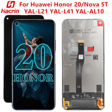 For Huawei Honor 20 YAL-L21 Lcd Screen Tested LCD Display+Touch Screen Replacement With Frame On For Huawei Honor20 YAL-L41