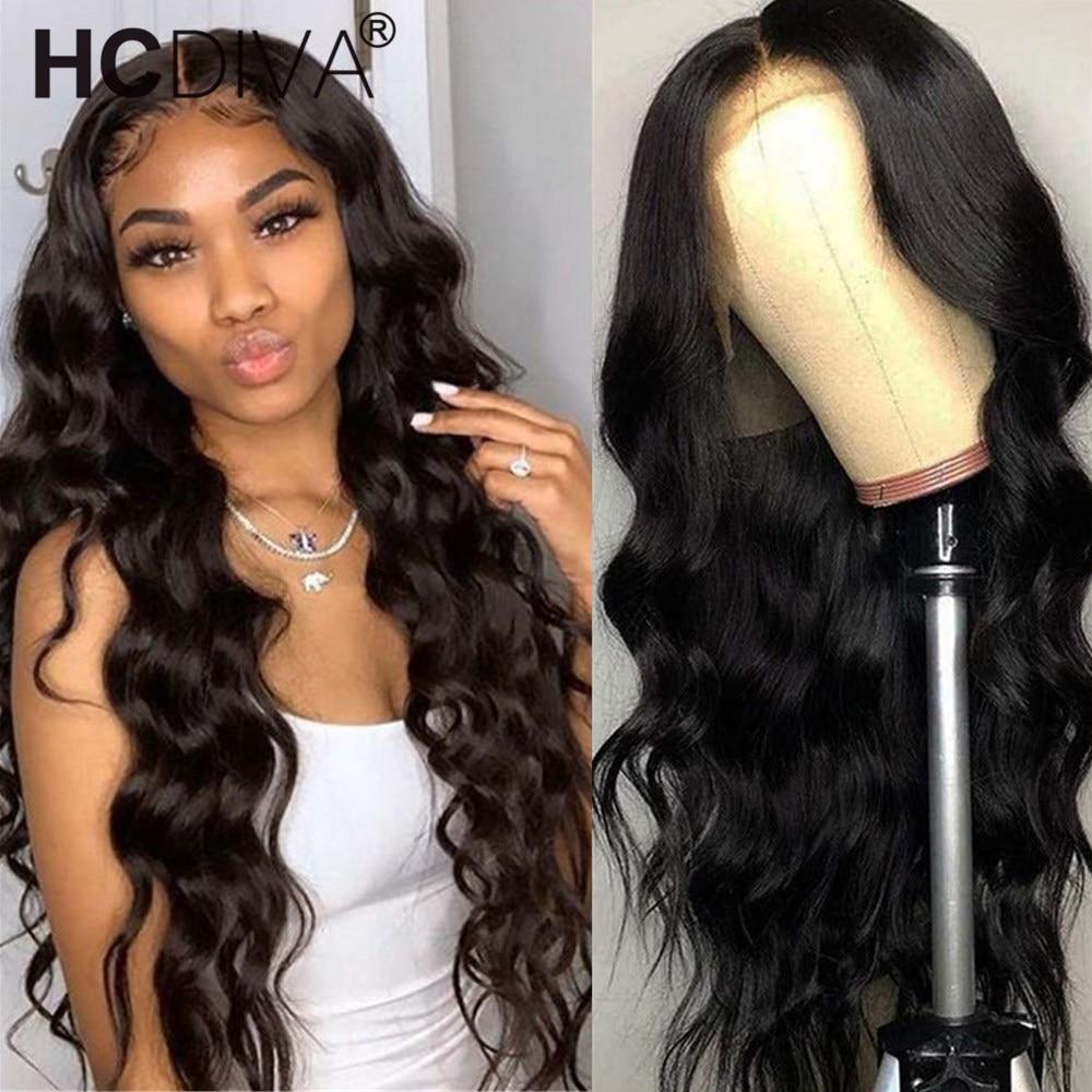 70cm Middle Part Lace Wig Brazilian Remy Body Wave perruque cheveux humain 150% 5inch deep Part perruque de partie de dentelle