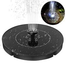 цена на 2.4W Solar Powered Fountain Panel Pump With 4 Spray Nozzle LED Light Effect Round Solar Panel Water Pump Kit For Birdbath Garden