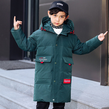 jacket in winter 2019 han edition of the new boy with thick white duck down long money wholesale children's wear coat